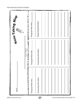 Writing Reports: Note-Taking Map, Outline, & Grid Forms