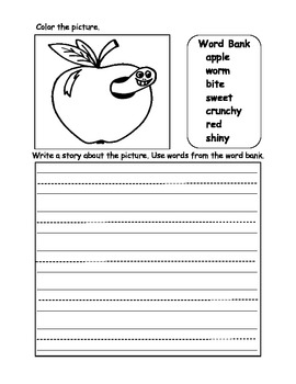Writing Reproducibles Kindergarten and 1st Grade Worksheets Color and Write
