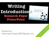 Writing Research Paper Introductions PowerPoint Presentation