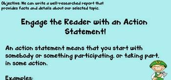 Writing: Research Report SMART board file