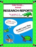 Writing Research Reports! Animals!  Grades 2-6