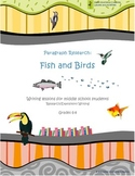 Writing Research/Expository for Middle School - Birds/Fish Topic
