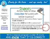 Response Writing Resource for Teens - a 5 Step Response Gu