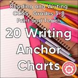 Writing Anchor Charts: CCSS Grades 3-8