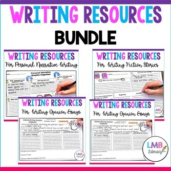 Writing Resources: *Bundle* Graphic Organizers, Prompts, and Self Assessments