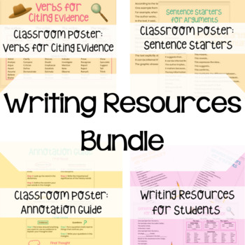Writing Resources - Classroom Posters and Student Handouts