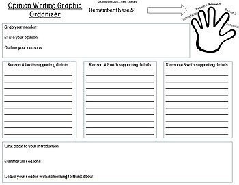 Writing Resources: *Opinion* Graphic Organizers, Prompts, & Self Assessments