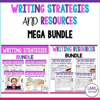 Writing Resources and Writing Strategies Mega Bundle