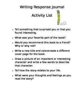 Writing Response Activities