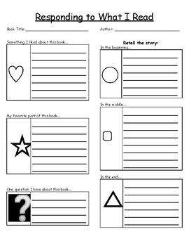 Writing Response Form- Use for ANY book!