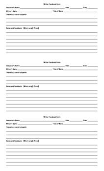 Writing Response Groups  - Three Protocols