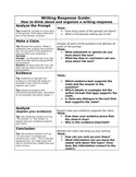 Writing Response Guide:  How to think about and organize a