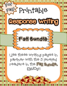 Writing Response Pages - Fall Bundle