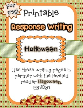 Writing Response Pages - Halloween