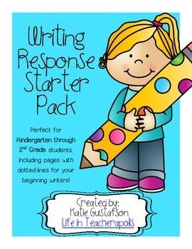 Writing Response Starter Pack