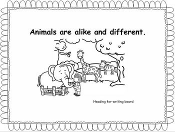 Animals are alike and different. Wonders Unite 7, Week 1