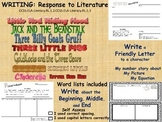 Fairy Tales Unit Response to Literature Writing