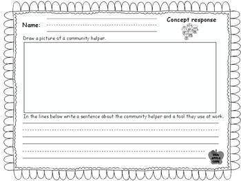 Writing Responses for Wonders, Unit 4, Week 1, Community Helpers.