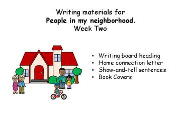 Writing Responses for Wonders, Unit 4, Week 2, Wonders, My neighbors.