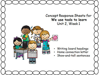Writing Responses for the Wonders Reading Program, Unit two, Week 1