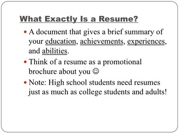 Resumes Bundle: Graphic Organizer, PowerPoint, and Other Helpful Resources