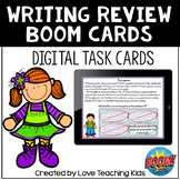 Writing Review BOOM Cards Digital Task Cards for Distance