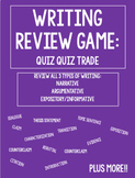 Writing Review Game: Quiz Quiz Trade