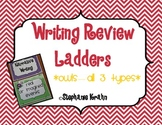 Writing Review Ladders Bundle - Owl Theme