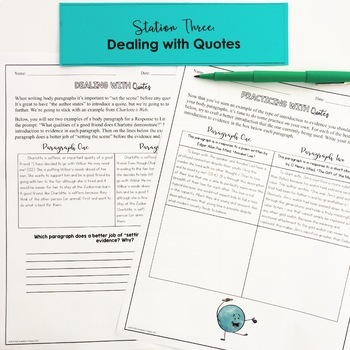 Writing Review Stations for Middle School