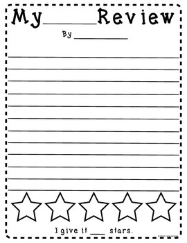 Writing Reviews FREEBIE