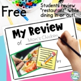 Writing Reviews Freebie ~ Restaurant Review Homework Booklet