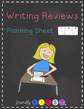 Writing Reviews Planning Sheets