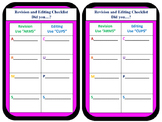 Writing Revision/Editing Checklist Graphic Organizers and