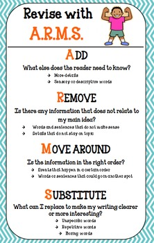 Writing Revision Poster FREEBIE