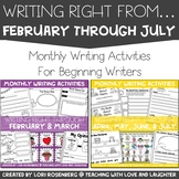 Writing Right From February Through July Bundle