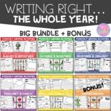 Writing Right Through the Year...BIG BUNDLE
