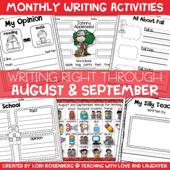 Writing Right Through...August & September