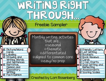 Writing Right Through...Freebie Sampler