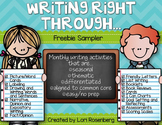 Writing Right Through...Freebie Sampler