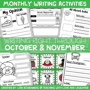 Writing Right Through...October & November