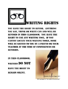 Writing Rights poster