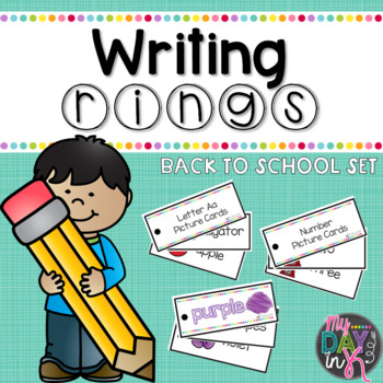 Writing Rings For Writing Workshop: Back to School Set