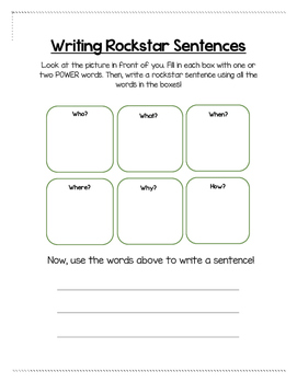 Writing Rockstar Stentences