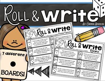Writing: Roll and Write Boards (Narrative, Informational, Opinion, Research)