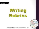 Writing Rubrics (ELA/Common Core Aligned)