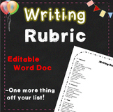 Writing Rubric ~ 2nd, 3rd, 4th, 5th, 6th grade