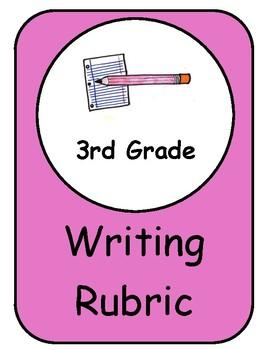 Writing Rubric 3rd Third Grade