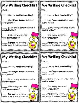 Writing Rubric / Checklist