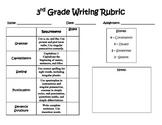 Writing Rubric - 3rd grade