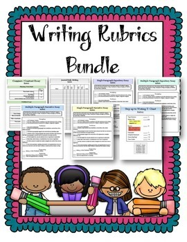 Writing Evaluations and Rubrics ELA Bundle